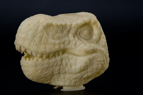 复杂花纹恐龙头雕刻